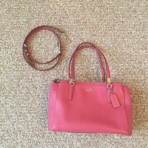 """Coach """"Christie"""" pebbled leather carryall."""